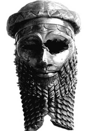 Cabeza de bronce de un antiguo rey, muy probablemente Sargón de Acad.