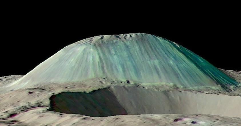 Científicos descubren un colosal criovolcán o volcán de hielo en Ceres