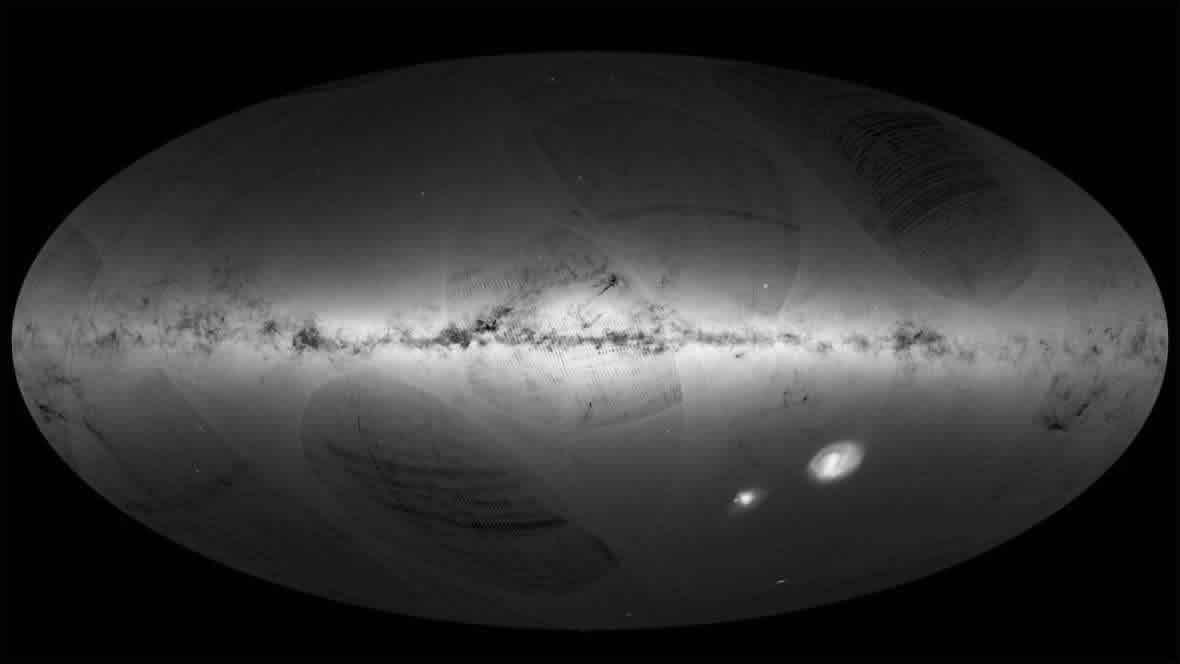 Mapa detallado de la Vía Láctea