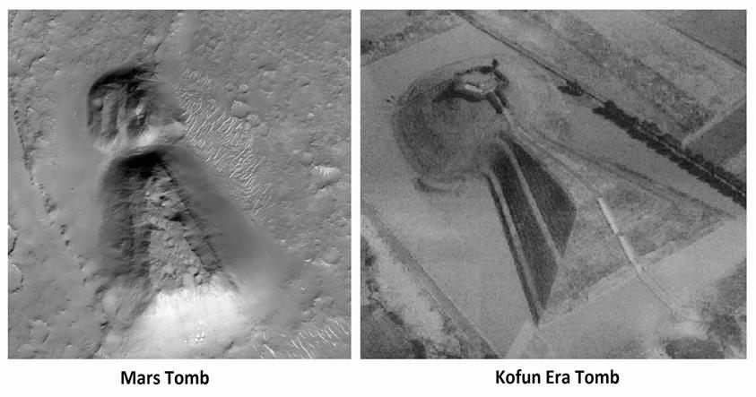 La gran similitud entre un enorme «templo» descubierto en Marte y una tumba japonesa