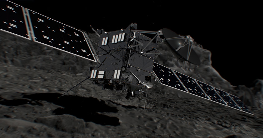La sonda Rosetta se estrelló en el cometa 67P, terminando una real Odisea del Espacio de 12 añosLa sonda Rosetta se estrelló en el cometa 67P, terminando una real Odisea del Espacio de 12 años