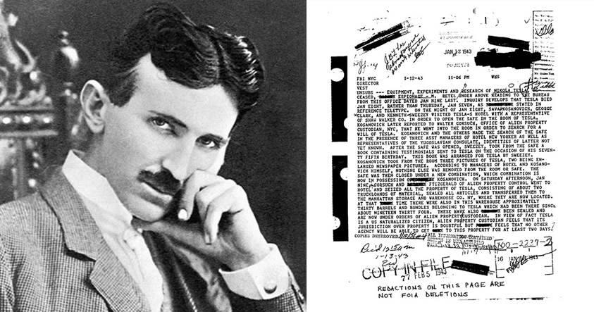 Documentos desclasificados por el FBI confirman que EE.UU. se apropió de los archivos de Nikola Tesla