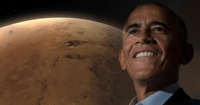 Barack Obama se compromete a enviar humanos a Marte en el 2030