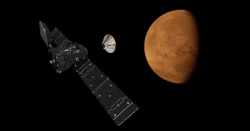 El módulo Schiaparelli de la Misión Exomars inicia su fase de descenso en Marte