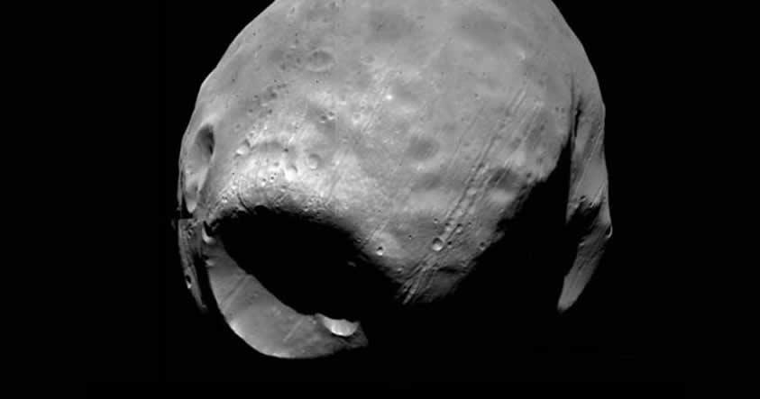 Como Fobos, la luna de Marte, llegó a ser similar a la «Estrella de la Muerte»