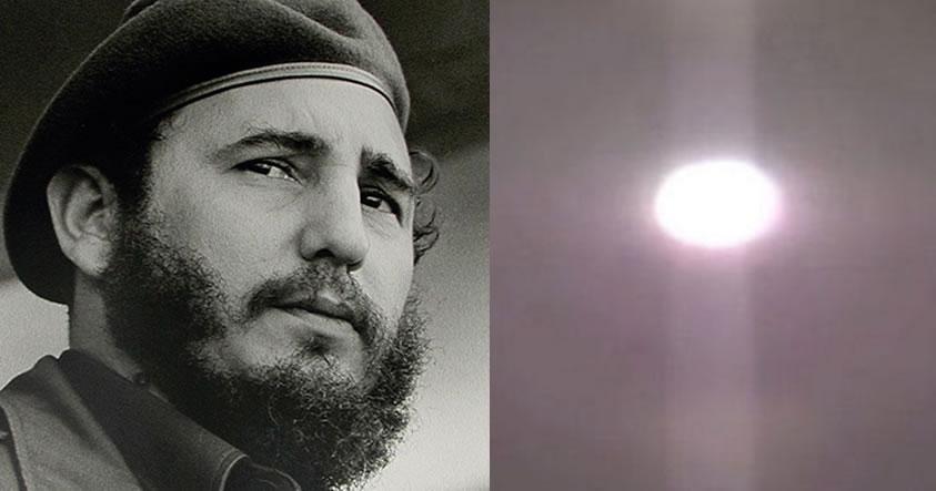 Fidel Castro revela que presenció un «redondo y enorme» OVNI