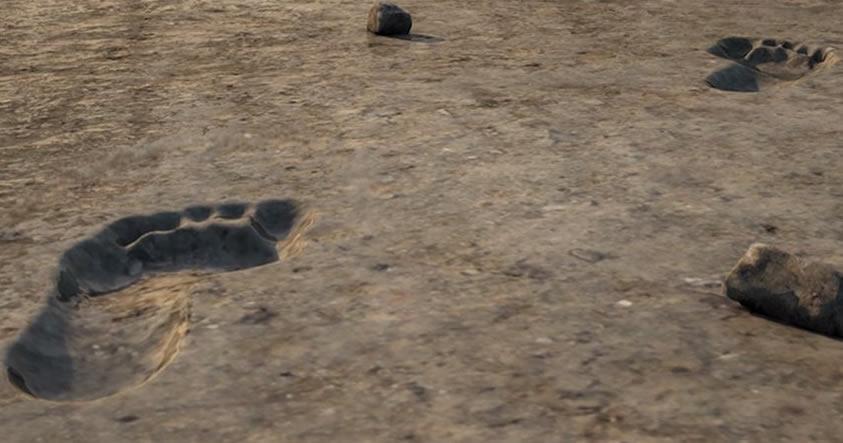 Descubren cientos de huellas humanas de miles de años atrás cerca de un volcán africano