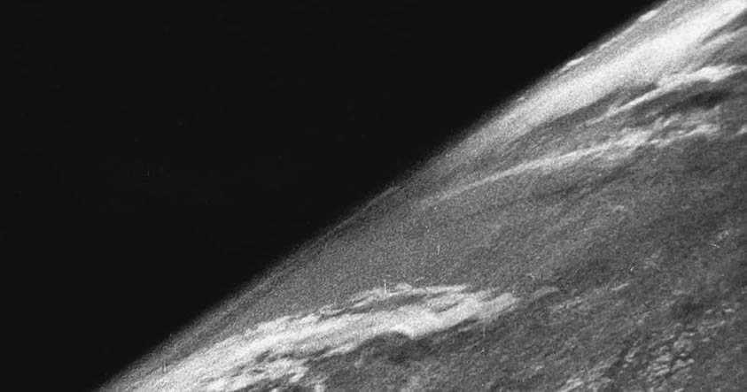 Cohete nazi tomó la primera fotografía de la Tierra desde el espacio hace 70 años