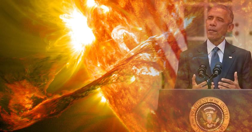 Obama anuncia que EE.UU. debe prepararse para una gran tormenta solar