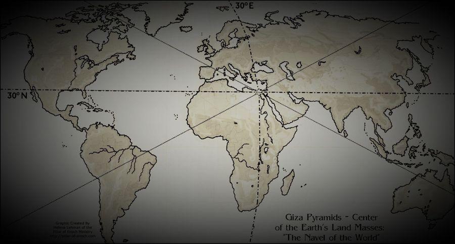 La Gran Pirámide de Giza se encuentra en el centro exacto de la Tierra