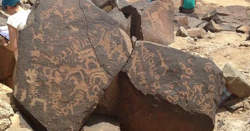 Miles de antiguas inscripciones descubiertas en el Desierto Negro de Jordan sugieren que la vida floreció en el pasado