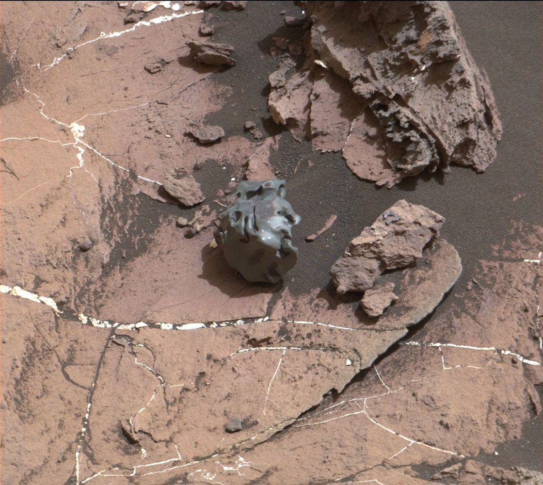 Imagen del meteorito con mejor resolución. Puedes hacer clic en ella para verla ampliada.