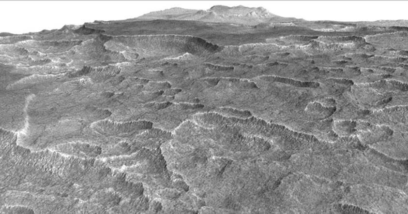 Hallan bajo el suelo de Marte un depósito de hielo más grande que Nuevo México