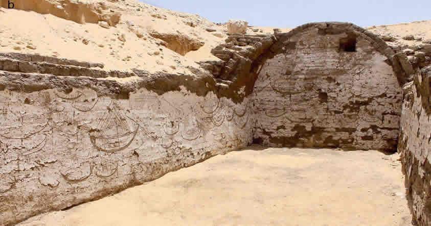 Hallan imágenes talladas de hace casi 4.000 años en la tumba de un Faraón