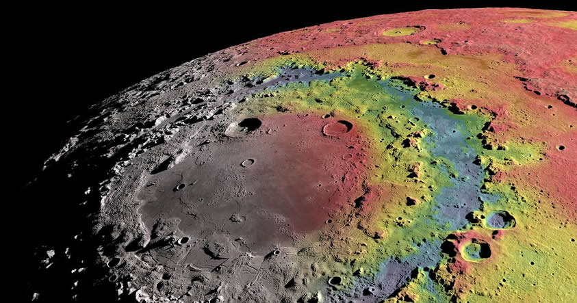 El cráter más grande de la Luna fue formado por el impacto de un asteroide de 64 Km