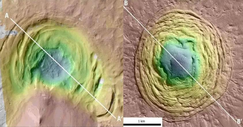 Científicos han descubierto un extraño «embudo» en Marte