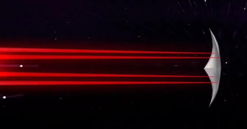La nave espacial que viaja a 1/5 de la velocidad de la luz y se autorepara de la radiación