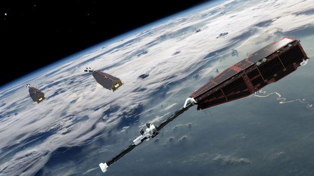 Los satélites Swarm se pusieron en marcha en 2013 para estudiar el campo magnético de la Tierra.