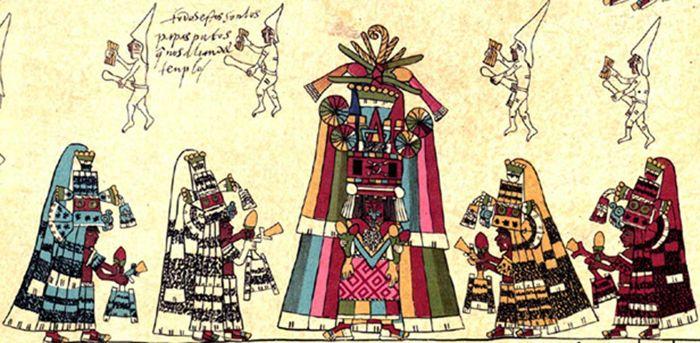 Detalle de la página 30 del Códice Borbónico.