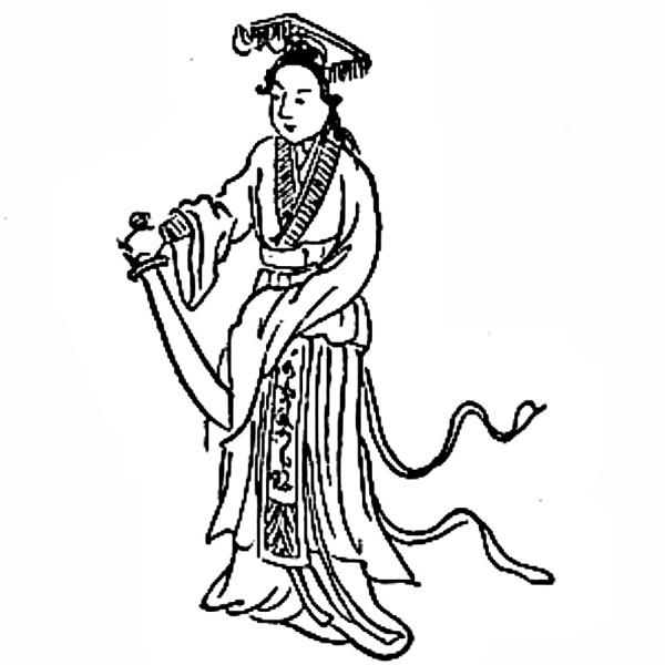 Dibujo correspondiente al número 3 en el Tui Bei Tu chino.
