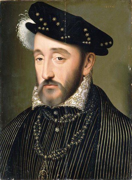 Retrato de Enrique II de Valois, rey de Francia cuya muerte fue supuestamente predicha por Nostradamus.
