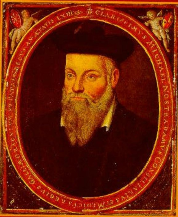Retrato original de Michel de Nôtre-Dame, pintado por su hijo César en torno al año 1614
