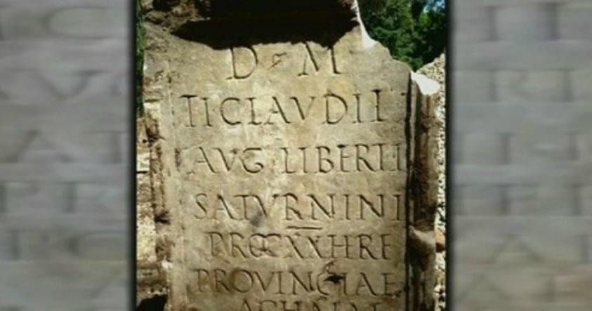 Una antigua lápida romana ha sido encontrada en un barrio acomodado de New York