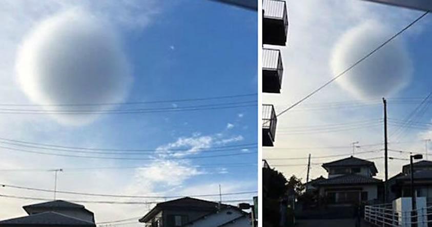 Esta extraña «nube esférica» apareció en el cielo de Japón