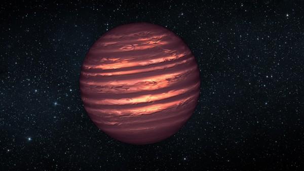 Representación de la enana marrón 2MASSJ22282889-431026, con una atmósfera similar a la de Júpiter.