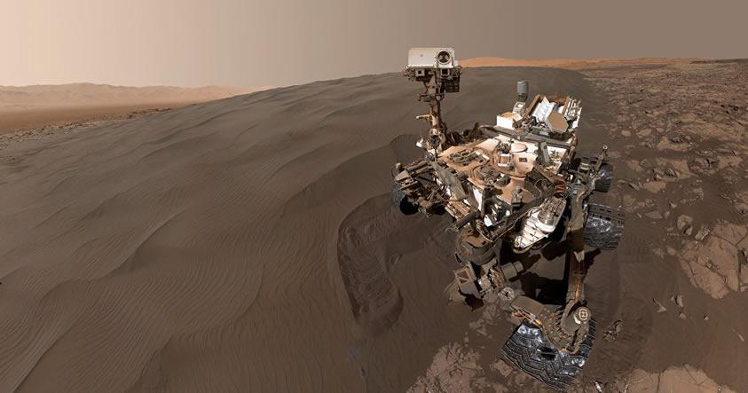 Curiosity descubre vestigios de barro sobre la superficie de Marte