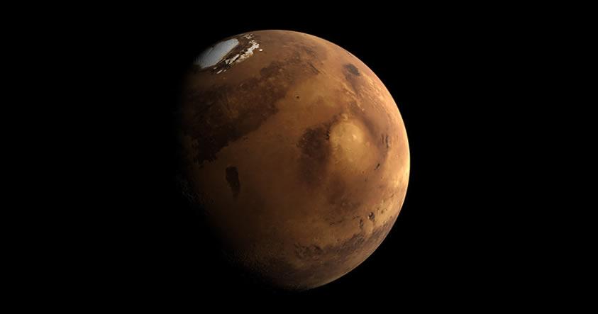 Un nuevo timelapse muestra la superficie helada de Marte