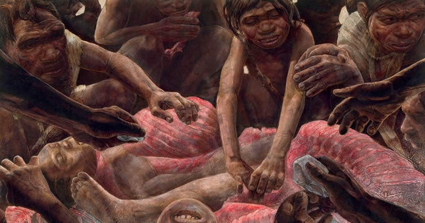 Hallan evidencias de que los neandertales eran caníbales y comían bebés