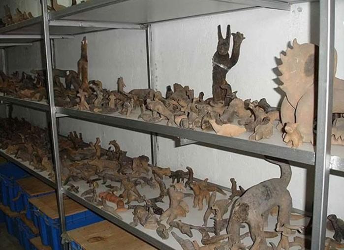 Algunas de las figuritas de arcilla que forman parte de la colección de Acámbaro.