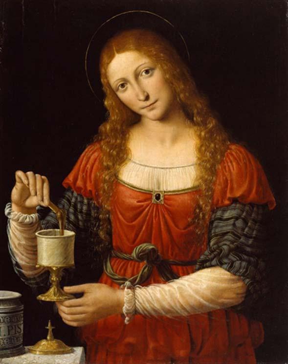 María Magdalena con el Frasco Sagrado, óleo del pintor italiano del siglo XV Andrea Solari