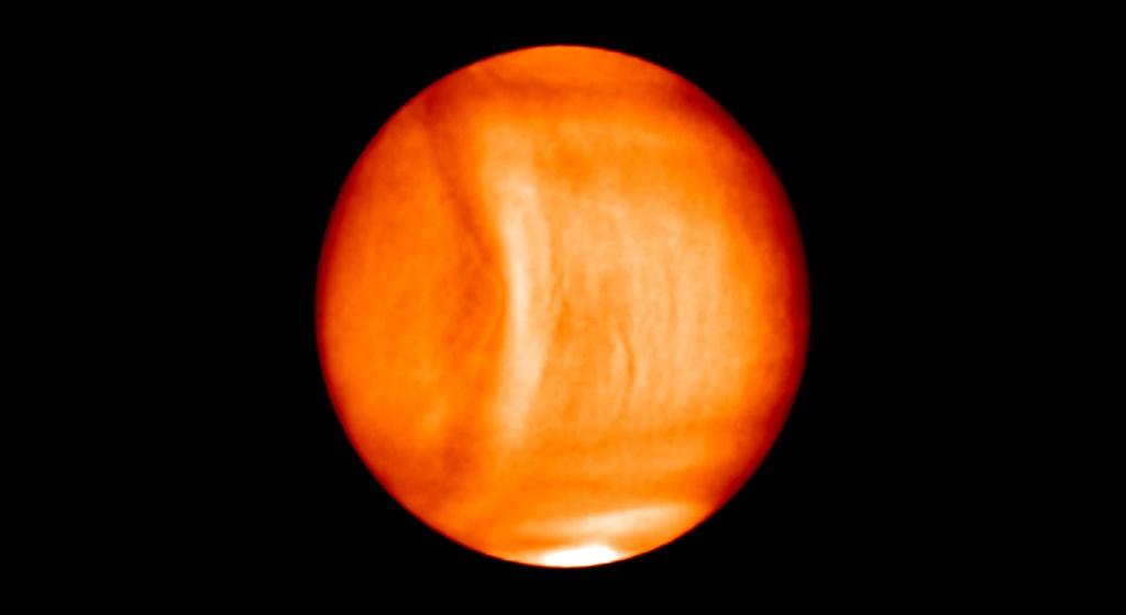 El satélite Akatsuki capturó esta imagen poco después de entrar en la órbita del planeta.