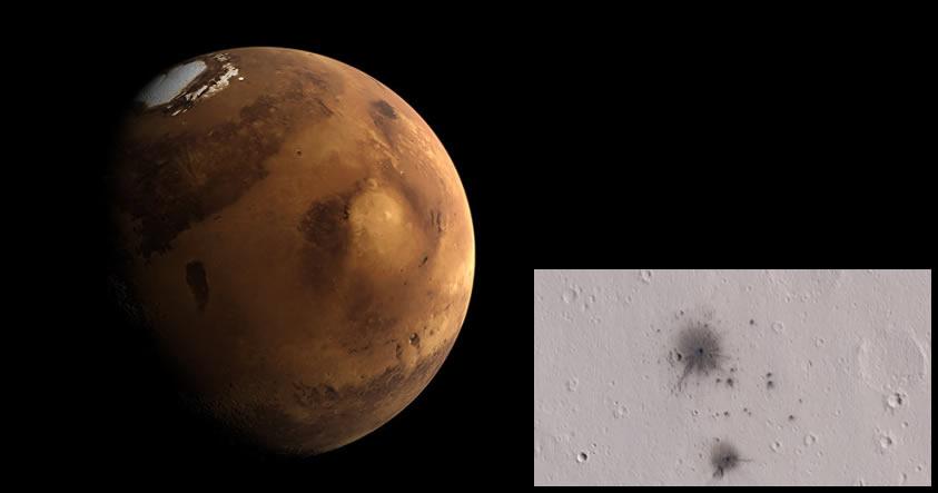 NASA captura imágenes de Marte «bombardeado» por meteoritos