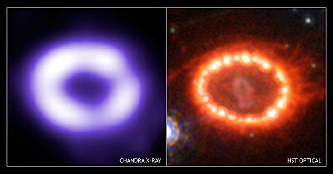 La Supernova 1987A en agosto de 2005