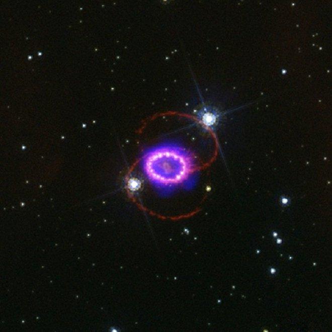 La Supernova 1987A en febrero de 2007