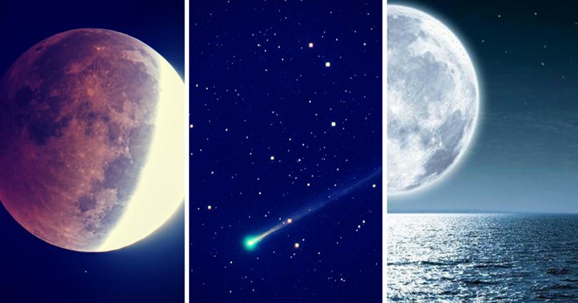 Noche de espectáculo triple: Luna de nieve, eclipse penumbral y paso del cometa 45P
