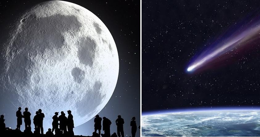 Viernes 10 de febrero, evento doble en el cielo: «Luna de Nieve y Cometa Azul»