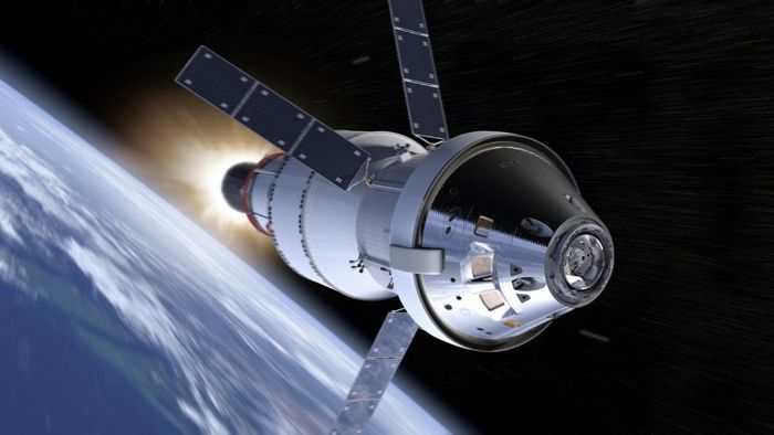 Una representación de la cápsula Orion de la NASA, en el EM-1.