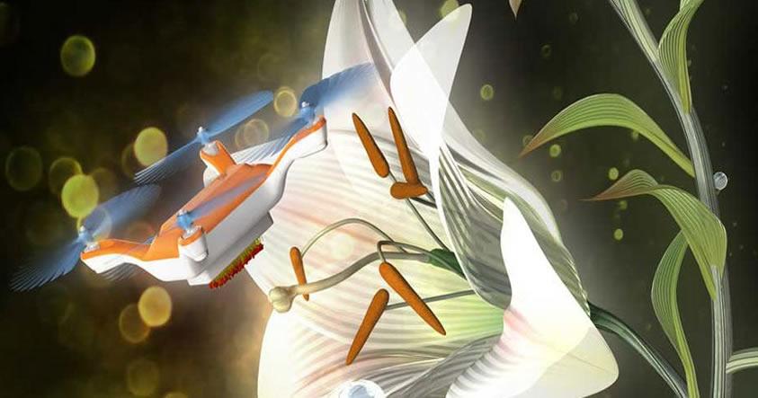 El primer drone polinizador que podría ayudarnos a sobrevivir al apocalipsis de las abejas