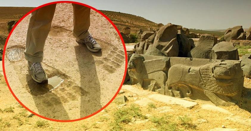 ¿La marca de los Anunnaki? Las huellas Gigantes de Ain Dara
