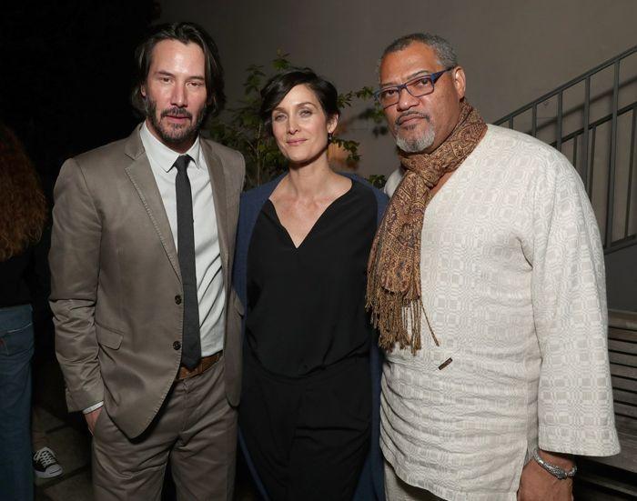 Neo, Trinity y Morpheus reunidos en la premiere de John Wick 2.