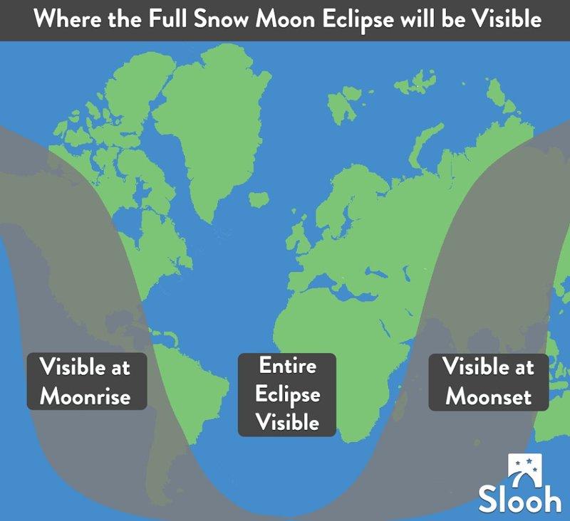 Partes del mundo donde será visible el eclipse
