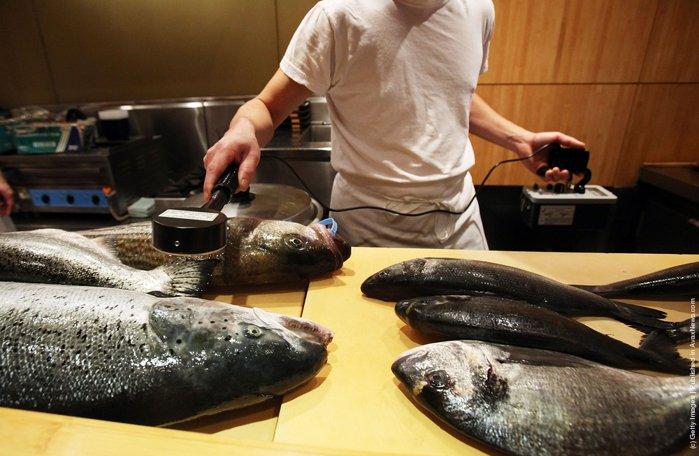 Prueba de radiación en restaurant de Sushi