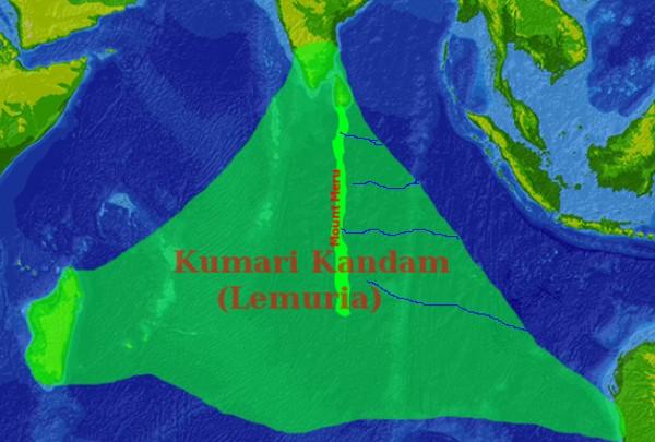 «Lemuria» en la literatura mística nacionalista Tamil, conectabaMadagascar, el sur de la India y Australia (que cubre la mayor parte del Océano Índico).