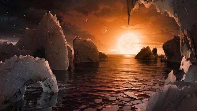 Recreación artística de uno de los planetas hallados.