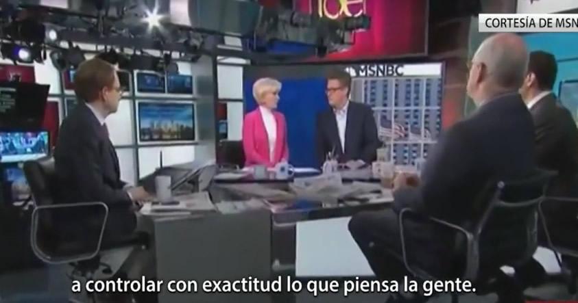 Presentadora de MSNBC: El trabajo de los medios es «controlar exactamente lo que la gente piensa»