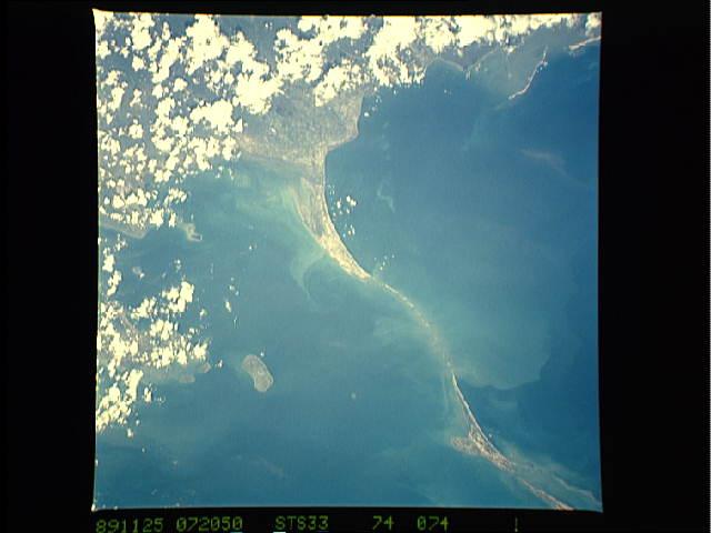 El puente de Rama visto desde el espacio.
